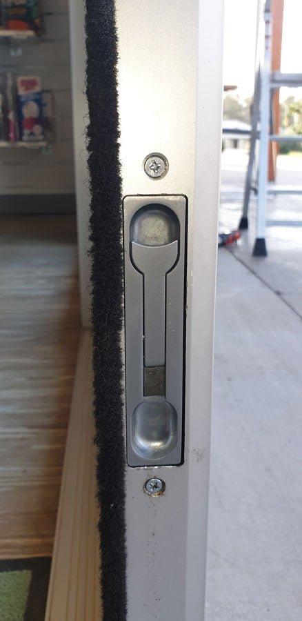 Flush door lock repaired