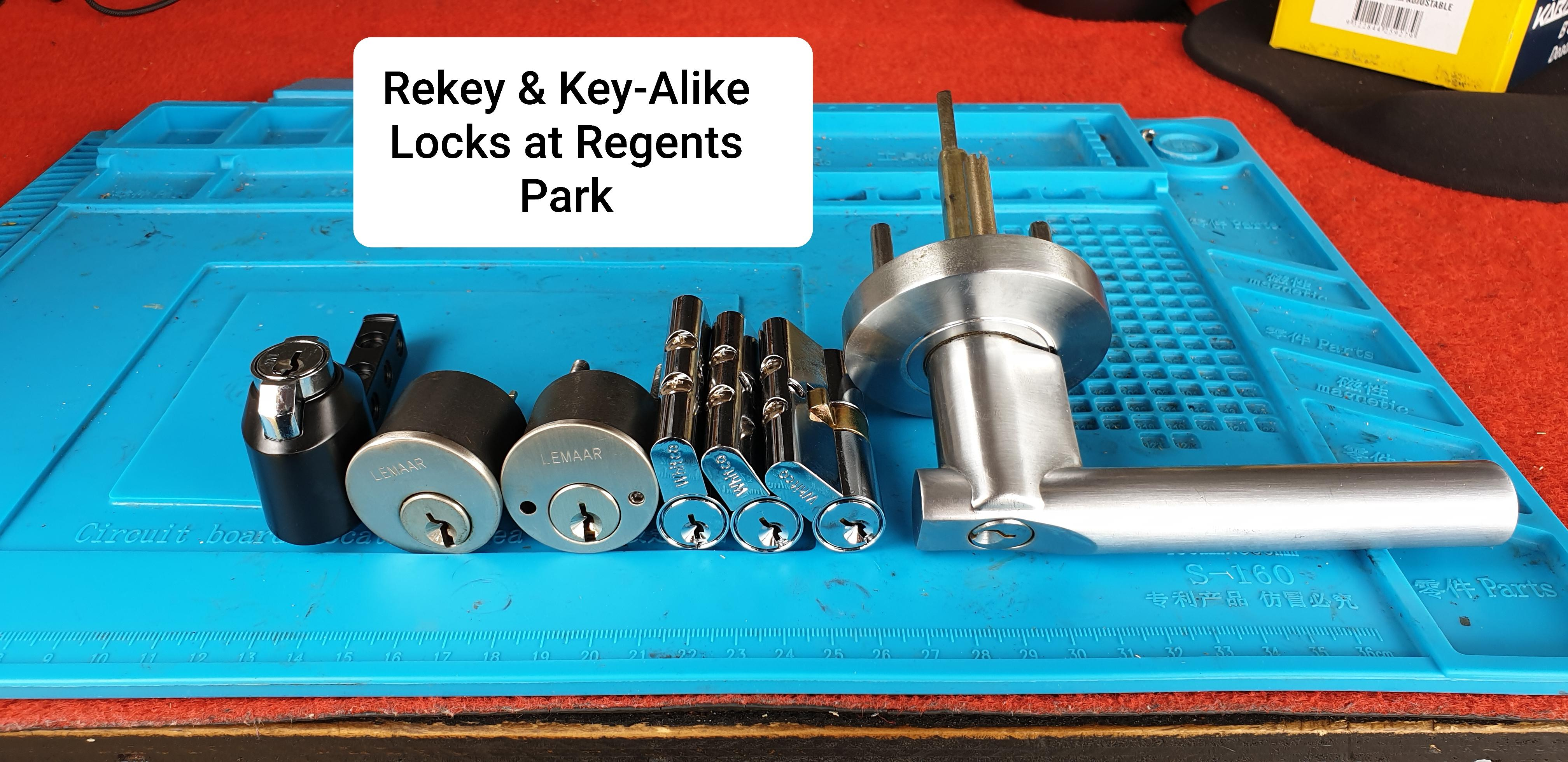Key alike different Whitco and Lemaar locks at regents park