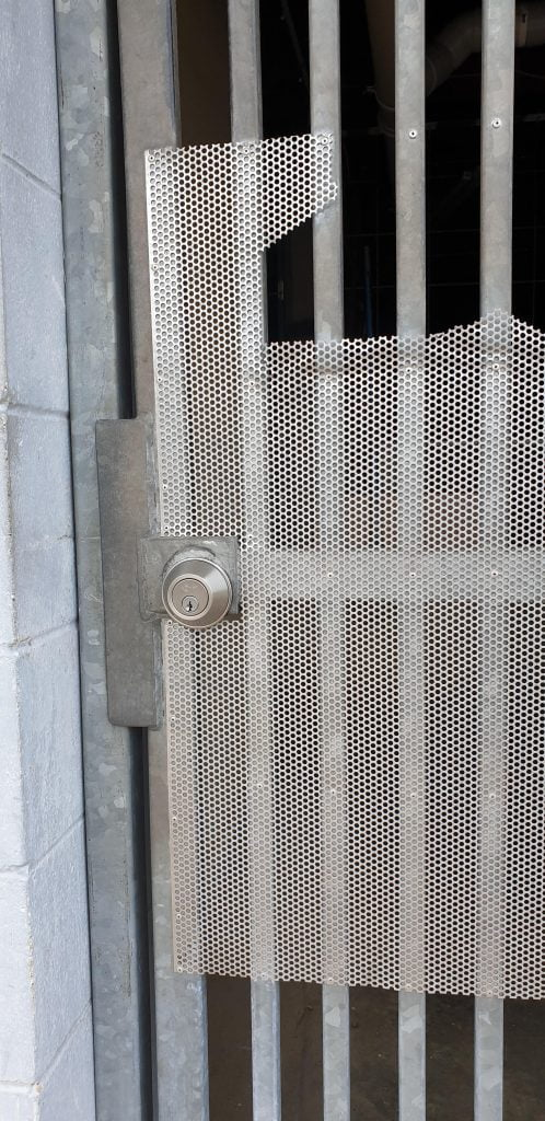 new deadbolt on a gate that was replaced