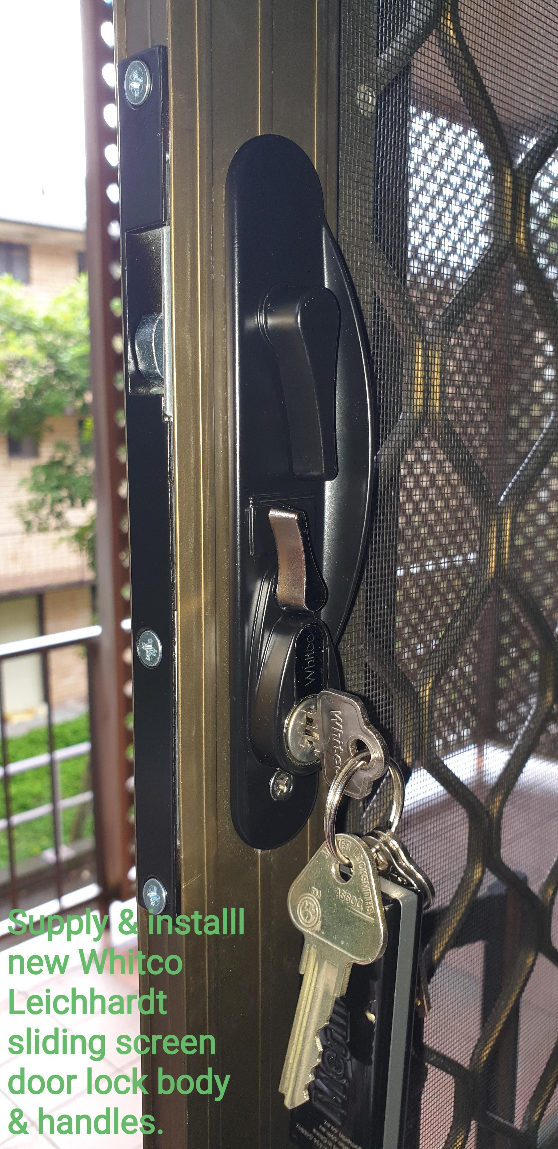 Real Estate Job - Screen Door Lock Repair