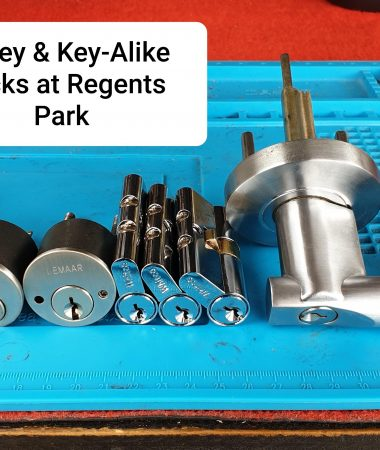 Key alike different whitco lemmar locks at regents park